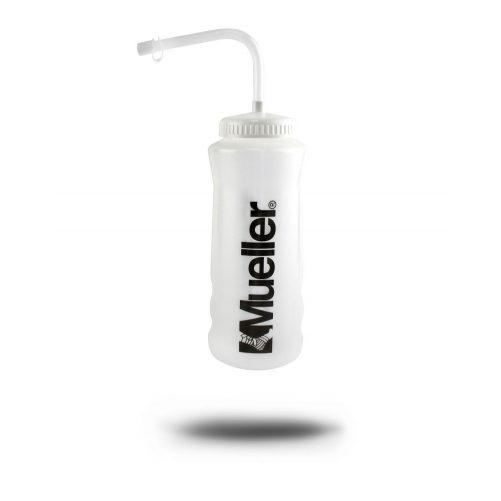 Mueller 9 Decis Kulacs - Szívószálas (Quart Water Bottle, Natural/w white Straw Cap)