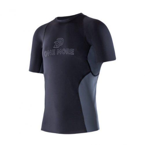 Zeropoint Athletic Férfi Kompressziós Rövid Ujjú Felső, fekete-szürke (Athletic Comperssion SS Top Men)