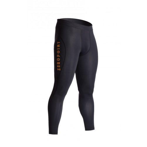 Zeropoint Athletic Férfi Kompressziós Nadrág, fekete-narancs (Athletic compression tights Men)