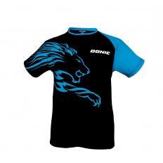 Donic-T-Shirt-Lion-fekete-kek-polo