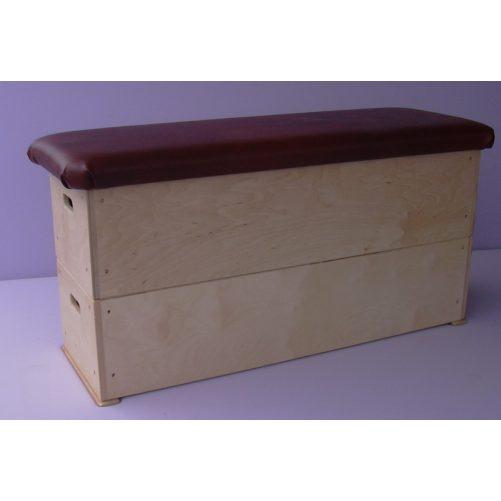 Tornaszekrény óvodai, 2 részes, rétegelt lemezből, műbőr borítással  - cikkszám: 1016