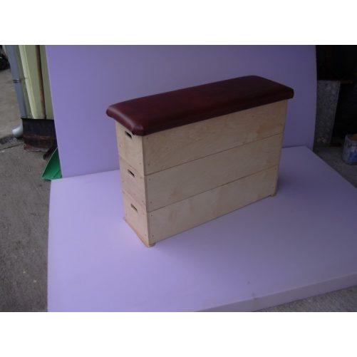 Tornaszekrény óvodai, 3 részes, rétegelt lemezből műbőr borítással   - cikkszám: 1017