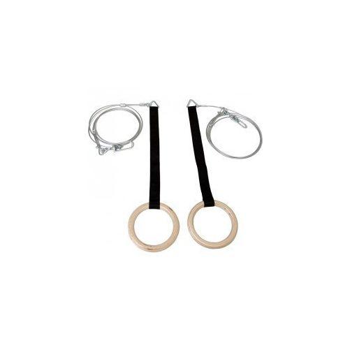 Műszálhevederes, drótkötélszáras, forgócsapágyas tornagyűrű - cikkszám: 1028