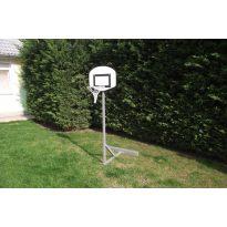 Kosárlabdaállvány, óvodai, 60x45 cm üvegszálas palánkkal, kosárgyűrűvel, ellensúllyal, 140-180 cm-ig állítható magassággal - cikkszám: 1131