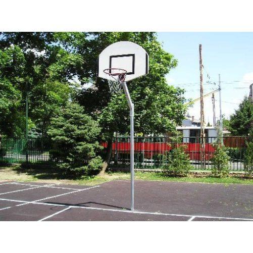 Kosárállvány, kültéri, lebetonozható, 0,6 m benyúlással, street palánkhoz, porfestett - cikkszám: 1150F