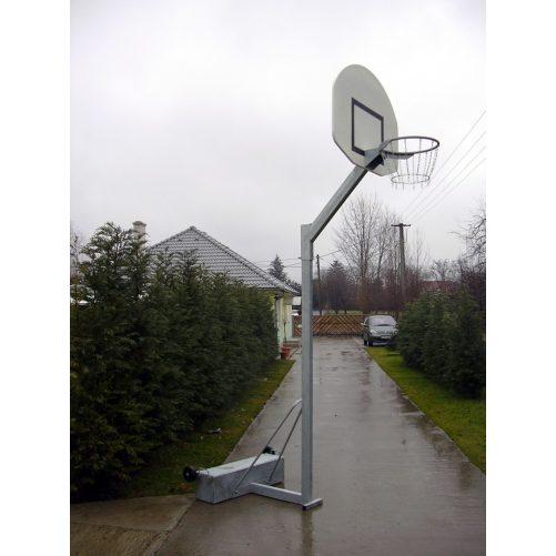 Streetball állvány, ellensúlyos, gurítható, 0,6 m benyúlással, porfestett - cikkszám: 1151F