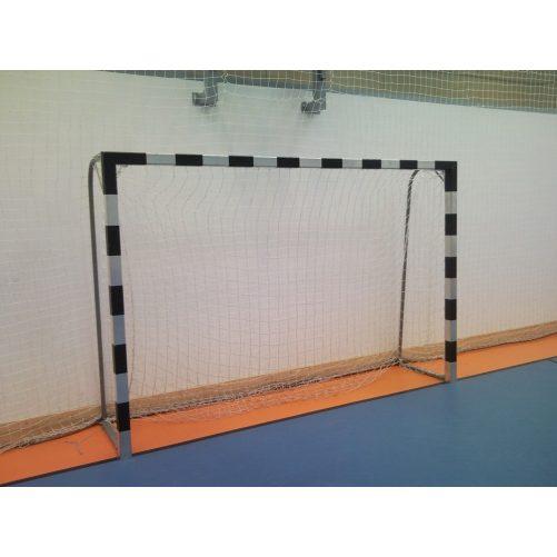 Kézilabda kapu aluminium hüvelyes (hüvelyekkel), porfestett vasalattal, műanyag hálószemmel - cikkszám: 1306