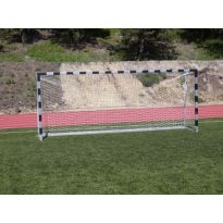 5x2m-es kapu aluminium 8x8cm-es négyzet profil natúr alu fekete csikkal, hüvelyes (hüvelyekkel), porfestett vasalattal, műanyag hálószemmel - cikkszám: 1309