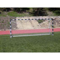 5x2m-es kapu aluminium 10x12cm-es ovál profil natúr, hüvelyes (hüvelyekkel), tűzihorganyzott vasalattal, műanyag hálószemmel - cikkszám: 1320