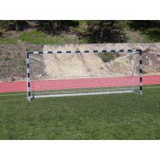 5x2m-es kapu aluminium 10x12cm-es ovál profil natúr, ellensúlyos, gurítható, műanyag hálószemmel - cikkszám: 1330