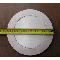 Padlószerelvény fedlap parkettához, 15mm-es rétegelt lemezből, fogadó tányérral - cikkszám: 1411