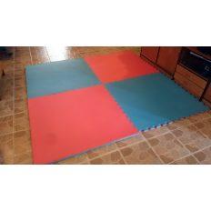 Puzzle tatami 100x100x3cm kék-piros - cikkszám: 1590