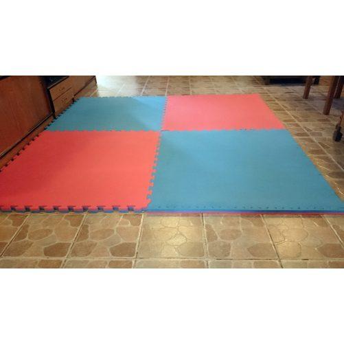 Puzzle tatami 100x100x4cm kék-piros - cikkszám: 1591