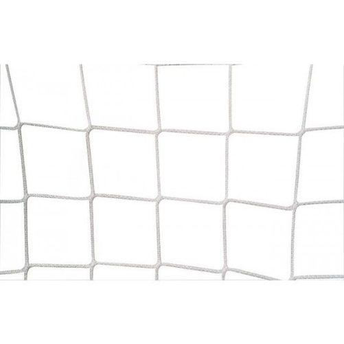 Labdarugó-kapuháló, 12x12cm Ø 3,5mm-es fehér anyagból, fent 80, lent 150cm - cikkszám: 1617