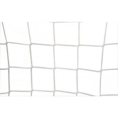 Labdarugó-kapuháló, 12x12cm Ø 3,5mm-es fehér anyagból, fent 80, lent 230cm--hordozható kapura - cikkszám: 1618