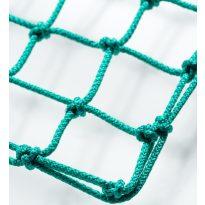 Labdarugó-kapuháló, 12x12  Ø5mm-es zöld anyagból, fent 80, lent 230cm--hordozható kapura--10kg/db - cikkszám: 1657