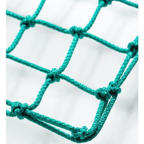 Labdarúgó-kapuháló 12x12 téglatestű, 230cm mély, Ø5mm-es zöld anyagból--10kg/db - cikkszám: 1658