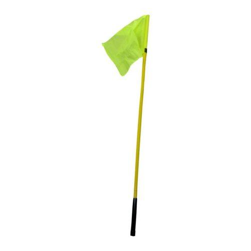 Sárga színű 1,5 m-es zászlórúd, rugalmas műanyagból - cikkszám: 7030