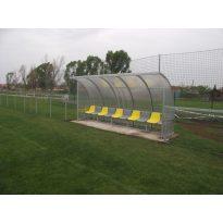 Cserepad 10 fős műanyag ülőkével, 2012-es új MLSZ előírások szerint--száll. és beép. nélkül - cikkszám: 8701