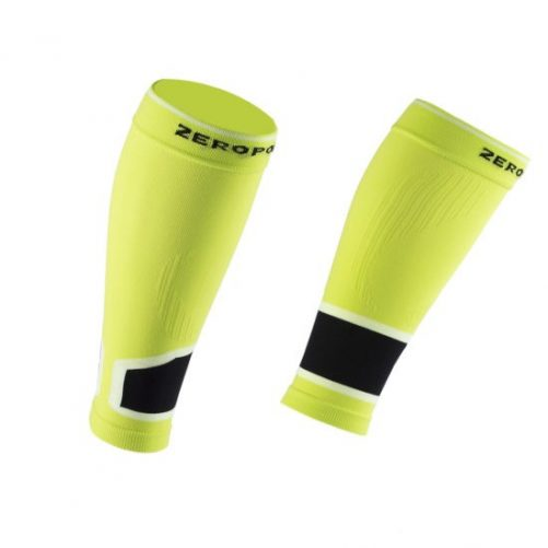 Zeropoint Kompressziós Szár 2.0, neonsárga (Compression Performance Calf Sleeve 2.0)