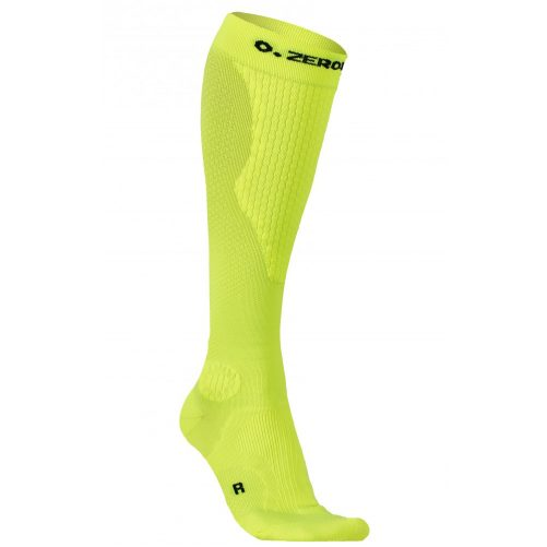 Zeropoint Intenzív Kompressziós Zokni, neon-sárga (Intense Compression Socks)