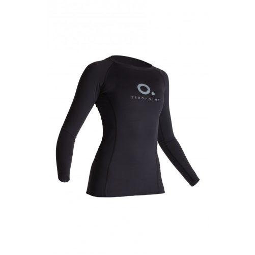Zeropoint Power Női Kompressziós Hosszú Ujjú Felső, fekete (Power Compression LS Shirt Women)