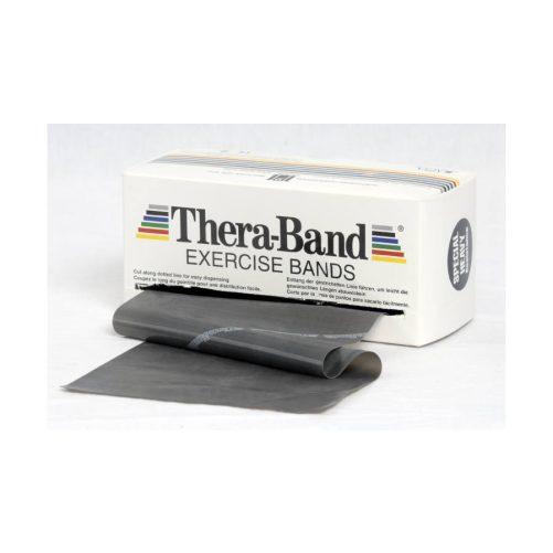 Theraband erősítő gumiszalag gurigában 5,5 m, szuper erős, fekete