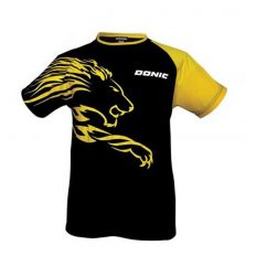Donic-T-Shirt-Lion-fekete-sarga-polo