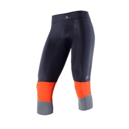 Zeropoint-Athletic-Ferfi-Kompresszios-3-4-Nadrag-fekete-szurke-narancs