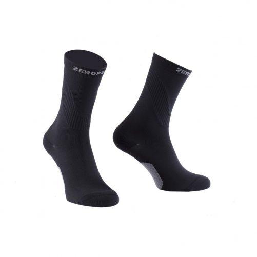 Zeropoint Kompressziós Sportzokni, fekete (Compression Crew Sock)